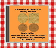 CD with over 60 Sears Craftsman Compucarve Carvewright Clock Projects & Patterns