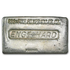 100 oz Engelhard Silver Bar - Poured Silver Bar - SKU #75964