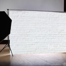 7x5FT White Retro Brick Wall Vinyl Studio Backdrop Photography Photo Background