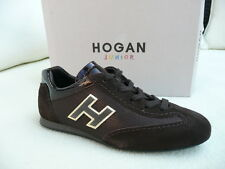 Hogan by Tod 's tods talla 31 schnürschuhe sneakers zapatos marrón nuevo PVP 149 €