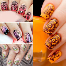 Women Nail Art Polish Manicure Retro Flower Image Stamping Template Plate Tool