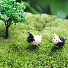 2pcs Mini Cute Baby Sheep Micro Landscape Fairy Crafts Glass Garden Decor Random