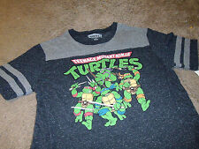 Teenage Mutant Ninja Turtles Mens TMNT Black & Gray T-Shirt Size 2XL