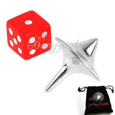 Gyro + Dice + Bag 3 in 1 Inception Totem Zinc Alloy Silver Accurate Spinning Top