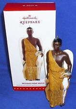 Hallmark Ornament Message From Above 2015 African American Male Angel w Deer NIB