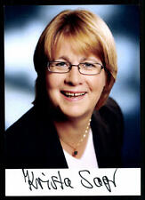 Krista Sager Autogrammkarte Original Signiert ## 36751