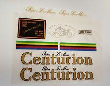 Sticker Decal Set for Vintage Centurion Super Le Mans Bicycle 9 piece set