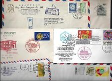 CHINA JAPAN 1940s 90s COLLECTION OF 42 MOSTLY COMMERCIAL COVERS SOME FDCs