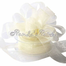 Woven Edge Premium Sheer Class Organza Ribbon - Choose Colour, Width and Length
