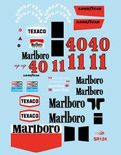 1/10 1973 Mclaren M23 F1 decal sticker for Tamiya F103 F104w RC Car Body