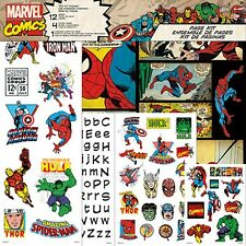 MARVEL COMICS SCRAPBOOK PAPER PAGE KIT SPIDER IRON MAN CAPTAIN AMERICA HULK THOR