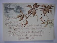 Vintage NEW BORN CHRIST PRAYER Reproduction of Antique Christmas Post Card 1874