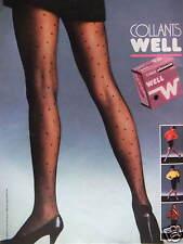 PUBLICITÉ 1983 COLLANTS WELL PLUMETIS - ADVERTISING