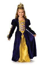 Girls REGAL QUEEN Princess Costume Purple Gold Gown Long Dress Child Medium 8 10