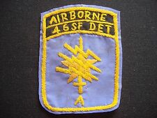 "War Hand Made Patch US 1st SFGrp - 46th Special Forces Company Detachment ""A"""