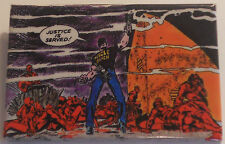 """Scourge Captain America MARVEL """"panel-pin"""" ©1986 ~2""""x3"""" from the comic book art!"""