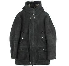 Gucci Hooded Lambskin Parka Shearling Elbow Patched Men Jacket Coat Sz. 46 (L)