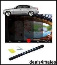 "Window tint film teinter kit fumée 35% noir 75cm x 300CM 9'10""x 2' 6"" diy kit"