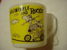 1960's--Bullwinkle & Rocky--Glass Mug Cup--by Westfield--Cartoon Comic Hero