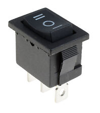 (On)Off(On) Momentary Rectangle Rocker Switch 3 Position Car Dash Boat SPDT 12V