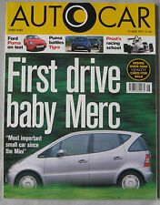 AUTOCAR magazine 25/6/1997 featuring Mercedes, Ford Puma road test, Renult, Jeep