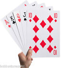 A4 Giant Playing Cards Extra Large Cards Jumbo Playing Cards Pack of 52 Deck New