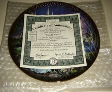 Mimi Jobe Kingdom Of Enchantment Unicorn & Castle MOONLIT MANOR Plate W/COA