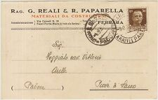 FERRARA - MATERIALI DA COSTRUZIONE - G.REALI  & PAPARELLA 1935