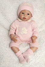22'' Handmade Lifelike Baby Boy Girl Silicone Vinyl Reborn Newborn Doll +Clothes