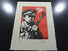 Shepard Fairey - Obey Giant - Chinese Soldiers Letterpress - Signed and Numbered