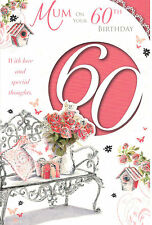 60 ° Biglietto Di Auguri Compleanno Per Mamma. Mamma On Your 60 ° With Love