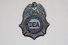DRUG ENFORCEMENT ADMINISTRATION DEA PATCH HOOK/LOOP TASK FORCE OFFICER FBI CIA!!