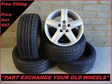 "1697 Genuine 17"" 5 Arm Spoke Audi A3 Alloy Wheels & New Tyres"