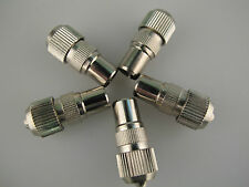 Coax Aerial Plug Male TV Plug Nickel Plated 5 pack, Fitting Demo In This Listing