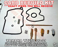 CARBURETOR CARB REBUILD KIT MAIN PILOT JET NEEDLE CLIP GASKET KEIHIN PJ38 38mm
