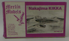 AVIATION : NAKAJIMA KIKKA MODEL KIT MADE BY MERLIN MODELS SCALE 1:72 KIT NO.37