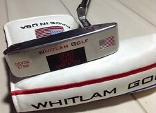 "Whitlam Golf Devon ETBW RH 35"" Putter 35 of 100 American Flag w Headcover"