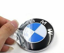 325- BMW LOGO MONOGRAM EMBLEM BADGE FRONT HOOD GRILL BONET 8.2 cms 3 5 7 Series