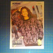 Patons Women's Fashion Sweater Knitting Pattern 3817