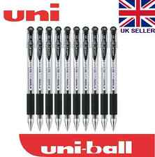 Uni-ball Signo UM151 0.38mm Fine Tip Gel Comfort Grip Rollerball Black x 10