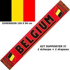 ECHARPE + DRAPEAU BELGIQUE BELGIUM no maillot fanion fahne flag scarf schal ...
