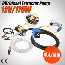 Electric Fuel Transfer Pump Diesel Kerosene Oil Commercial Auto Portable 12V DC