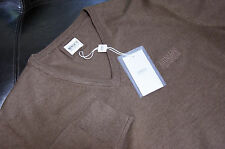 NWT Authentic Men's Armani Collezioni V-Neck Wool Brown Sweater L