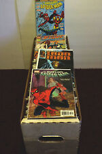 -ONE LONG BOX OF OVER 300 + COMICS, DC AND MARVEL ONLY!!!, F-VF.