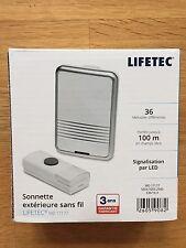 Carillon Sonnette Doorbell Porte Sans Fil Étanche LED Digital+36 Mélody 100M  AH