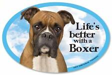Life's Better With A Boxer Dog Car Fridge Plastic Magnet