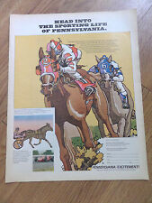 1970 Ad Head into the Sporting Life of Pennsylvania Harness Racing Auto Racing