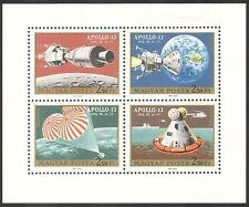 Hungary 1970 Apollo 13/Space Flight/Parachute/Helicopter 4v shtlt (n39963)
