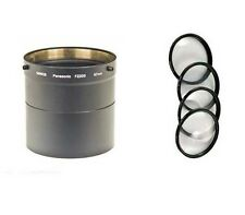 MACRO CLOSE UP Lens 4 Filter Kit + Tube bundle for Panasonic DMCFZ200 DMCFZ200K