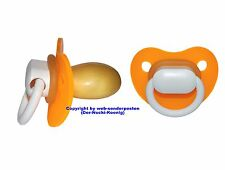 "Big Adult chupete pacifier ""Orange satén Ice"" - nº ds10 naranja satén Ice"